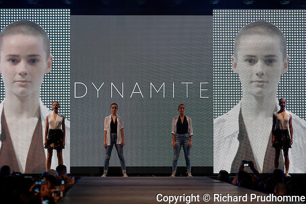 The Dynamite fashion show held during the Fashion and Design Festival  in downtown Montreal.