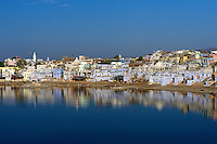 Reflections and the Pushkar Lake, Rajasthan India