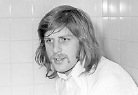 Billy Murray, footballer, Glentoran FC, Belfast, N Ireland, October, 1972, 197210280654<br /> <br /> Copyright Image from Victor Patterson, 54 Dorchester Park, Belfast, UK, BT9 6RJ<br /> <br /> t1: +44 28 9066 1296<br /> t2: +44 28 9002 2446<br /> m: +44 7802 353836<br /> <br /> e1: victorpatterson@me.com<br /> e2: victorpatterson@gmail.com<br /> <br /> www.victorpatterson.com<br /> <br /> IMPORTANT: Please see my Terms and Conditions of Use at www.victorpatterson.com