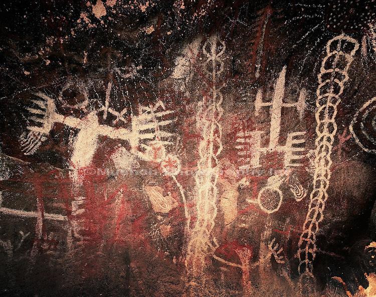 """Chumash Painted Cave, Burro Flats, Simi Hills   CALIFORNIA"""