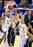 Matt Howard of the Bulldogs (center) tries to get the defensive rebound. Butler upset no.1 seed Pittsburgh 71-70 during the 3rd round of the NCAA Tournament at the Verizon Center in Washington, D.C on Saturday, March 19, 2011. Alan P. Santos/DC Sports Box