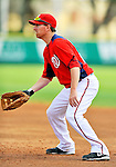 10 March 2012: Washington Nationals' first baseman Adam LaRoche in action against the New York Mets at Space Coast Stadium in Viera, Florida. The Nationals defeated the Mets 8-2 in Grapefruit League play. Mandatory Credit: Ed Wolfstein Photo