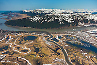 Springtime, Bering river and the Chugach mountains, Copper River Delta, southcentral, Alaska.
