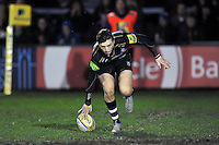 Darren Atkins of Bath United scores the opening try of the match. Aviva A-League match, between Bath United and Bristol United on December 28, 2015 at the Recreation Ground in Bath, England. Photo by: Patrick Khachfe / Onside Images