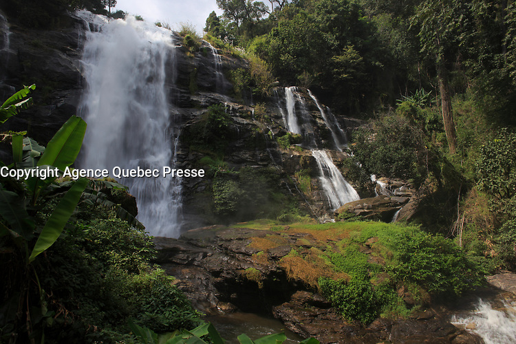 Wachirathan Waterfall , Doi Inthanon National Park , Mae Chaem District, Chiang Mai Province, Thailand