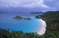 White sand beach, Trunk Bay, St. John, US Virgin Islands, Caribbean