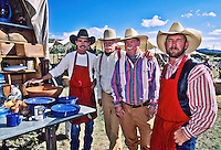 A chuckwagon crew at the Lincoln County Cowboy Symposium,which brings together a host of chuckwagon chefs and other old-time fans of  the  cowboy lifestyle each September in southern New Mexico