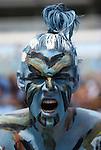 01 September 2012: UNC fan. The University of North Carolina Tar Heels played the Elon University Phoenix at Kenan Memorial Stadium in Chapel Hill, North Carolina in a 2012 NCAA Division I Football game.
