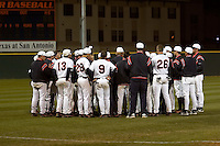 SAN ANTONIO, TX - FEBRUARY 16, 2007: The University of Louisiana at Lafayette Ragin Cajuns vs. The University of Texas at San Antonio Roadrunners Baseball at Roadrunner Field. (Photo by Jeff Huehn)