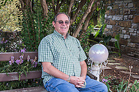 NWA Democrat-Gazette/ANTHONY REYES &bull; @NWATONYR<br /> James Crownover outside his home Thursday, Sept. 24, 2015 in Elm Springs. Crownover won two Spur awards for his first published western novel.