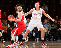 STANFORD, CA - January 25, 2013: Stanford Cardinal's Joslyn Tinkle  during Stanford's 65-44 victory over the Utah at Maples Pavilion in Stanford, California.