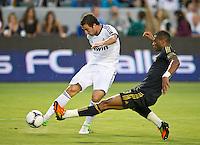CARSON, CA - August 2, 2012: The LA Galaxy vs Real Madrid match at the Home Depot Center in Carson, California. Final score LA Galaxy 1, Real Madrid 5.