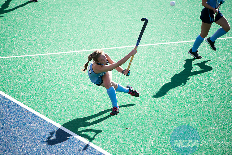 NORFOLK, VA - NOVEMBER 20:  Megan DuVernois (29) of the University of North Carolina flips the ball into the air against the University of Delaware during the Division I Women's Field Hockey Championship held at the LR Hill Sports Complex on November 20, 2016 in Norfolk, Virginia.  Delaware defeated North Carolina 3-2 for the national title. (Photo by Jamie Schwaberow/NCAA Photos via Getty Images)