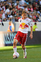 Chris Albright (3) of the New York Red Bulls during a Major League Soccer (MLS) match at Red Bull Arena in Harrison, NJ, on October 09, 2010.