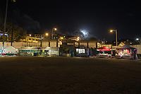 Love City Live Main Event.<br /> Full moon rising over vendors<br /> Reggae music festival.<br /> Cruz Bay, St. John.U.S. Virgin Islands