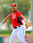 7 March 2012: Washington Nationals infielder Carlos Rivero warms up prior to a game against the St. Louis Cardinals at Space Coast Stadium in Viera, Florida. The teams battled to a 3-3 tie in Grapefruit League Spring Training action. Mandatory Credit: Ed Wolfstein Photo