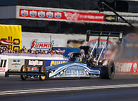 Sep 3, 2016; Clermont, IN, USA; NHRA top fuel driver Terry Haddock during qualifying for the US Nationals at Lucas Oil Raceway. Mandatory Credit: Mark J. Rebilas-USA TODAY Sports