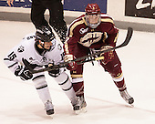 Steven McParland (PC - 15), Patch Alber (BC - 3) - The Providence College Friars tied the visiting Boston College Eagles 3-3 on Friday, December 7, 2012, at Schneider Arena in Providence, Rhode Island.