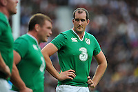 Devin Toner of Ireland looks on during a break in play. QBE International match between England and Ireland on September 5, 2015 at Twickenham Stadium in London, England. Photo by: Patrick Khachfe / Onside Images
