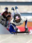15 December 2006: Shelley Rudman from Great Britain, starts her run at the FIBT Women's World Cup Skeleton Competition at the Olympic Sports Complex on Mount Van Hoevenburg  in Lake Placid, New York, USA. &amp;#xA;&amp;#xA;Mandatory Photo credit: Ed Wolfstein Photo<br />