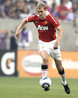 Darren Fletcher #24 of Manchester United during the 2010 MLS All-Star match against the MLS All-Stars at Reliant Stadium, on July 28 2010, in Houston, Texas .MANU won 5-2.