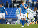 St Johnstone v Celtic...13.12.15  SPFL  McDiarmid Park, Perth<br /> Liam Craig leaves the pitch at full time<br /> Picture by Graeme Hart.<br /> Copyright Perthshire Picture Agency<br /> Tel: 01738 623350  Mobile: 07990 594431