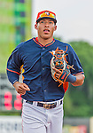 20 March 2015: Houston Astros infielder Carlos Correa trots back to the dugout during Spring Training action against the Washington Nationals at Osceola County Stadium in Kissimmee, Florida. The Astros fell to the Nationals 7-5 in Grapefruit League play. Mandatory Credit: Ed Wolfstein Photo *** RAW (NEF) Image File Available ***