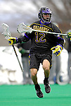 14 April 2007: University of Albany Great Danes' John Alpizar, a Sophomore from Summit, NJ, in action against the University of Vermont Catamounts at Moulton Winder Field, in Burlington, Vermont. The Great Danes defeated the Catamounts 14-7...Mandatory Photo Credit: Ed Wolfstein Photo