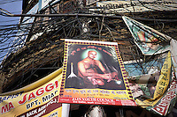 Posters for Jain worship in Old Delhi.