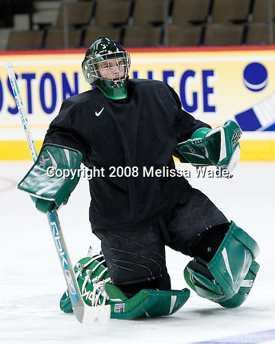 Jean-Philippe Lamoureux (North Dakota 1) - The 2008 Frozen Four participants practiced on Wednesday, April 9, 2008, at the Pepsi Center in Denver, Colorado.