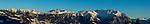 Blick vom Buchserberg auf die Berge von Fürstentum Liechtenstein, St. Gallen, SG, Schweiz, Switzerland.