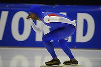 SCHAATSEN: HEERENVEEN: IJsstadion Thialf, 06-02-15, Training World Cup, Shani Davis, ©foto Martin de Jong
