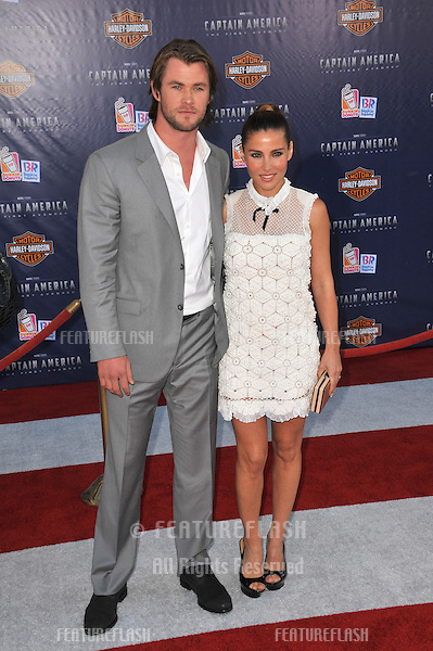 "Australian actor Chris Hemsworth & wife Elsa Pataky at the premiere of ""Captain America: The First Avenger"" at the El Capitan Theatre, Hollywood..July 19, 2011  Los Angeles, CA.Picture: Paul Smith / Featureflash"