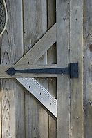 Wrought iron door hinge