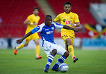St Johnstone v Eskisehirspor...26.07.12  Europa League Qualifyer.Nigel Hasselbaink and Rodrigo Tello.Picture by Graeme Hart..Copyright Perthshire Picture Agency.Tel: 01738 623350  Mobile: 07990 594431