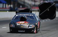 May 6, 2012; Commerce, GA, USA: NHRA  pro stock driver Erica Enders during the Southern Nationals at Atlanta Dragway. Mandatory Credit: Mark J. Rebilas-