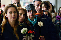 """Roma 2 Febbraio 2013.In corteo alla Stazione Termini per ricordare Modesta, povera donna anziana che morì trent'anni fa senza soccorsi,la """"santa"""" dei senza dimora.."""