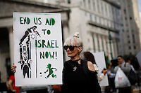 People attend a Protest Against Israeli Military Action In Gaza in New York on July 24, 2014 in New York City. Kena Betancur/VIEWpress