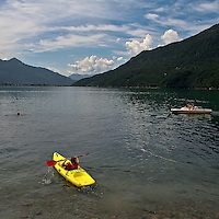 Lake in Val Chiavenna