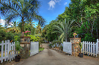 Entrance to Gibney Cottages and Gardens<br /> Virgin Islands National Park<br /> St. John<br /> U.S. Virgin Islands