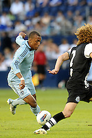 Teal Bunbury Sporting KC forward in action... Sporting Kansas City and Newcastle United played to a scoreless tie in an international friendly at LIVESTRONG Sporting Park, Kansas City, Kansas.