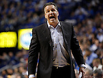 UK head coach John Calipari defends his team after a foul was called during the first half of the men's basketball game vs. LSU at Rupp Arena, in Lexington, Ky., on Saturday, January 26, 2013. Photo by Genevieve Adams  | Staff.