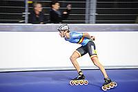 INLINESKATEN: HEERENVEEN: 22-09-2016, Sportstad, eerste wedstrijd in de overdekte Inlinehal, Mathias Vosté, ©foto Martin de Jong