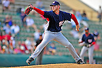 5 March 2009: Washington Nationals' pitcher Justin Jones on the mound during a Spring Training game against the Detroit Tigers at Joker Marchant Stadium in Lakeland, Florida. The Tigers defeated the visiting Nationals 10-2 in the Grapefruit League matchup. Mandatory Photo Credit: Ed Wolfstein Photo