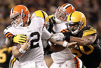 of the Pittsburgh Steelers of the Cleveland Browns during the game on December 8, 2011 at Heinz Field in Pittsburgh, Pennsylvania. (Photo by Jared Wickerham/Getty Images)
