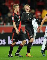 FUSSBALL   1. BUNDESLIGA   SAISON 2011/2012    15. SPIELTAG Bayer 04 Leverkusen - 1899 Hoffenheim                  02.12.2011 Lars Bender (li) und Andre Schuerrle (re, beide Bayer 04 Leverkusen)