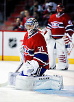 31 March 2010: Montreal Canadiens' goaltender Carey Price warms up prior to a game against the Carolina Hurricanes as teammate goaltender Jaroslav Halak looks on at the Bell Centre in Montreal, Quebec, Canada. The Hurricanes defeated the Canadiens 2-1. Mandatory Credit: Ed Wolfstein Photo