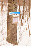 Trail sign for  Watson's Wander Trail.Smuggler's Notch, Vermont.