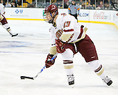 Cam Atkinson (BC - 13) - The Boston College Eagles defeated the Boston University Terriers 3-2 (OT) in their Beanpot opener on Monday, February 7, 2011, at TD Garden in Boston, Massachusetts.