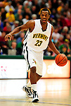 13 December 2009: University of Vermont Catamounts' forward Marqus Blakely, a Senior from Metuchen, NJ, in action against the Quinnipiac University Bobcats at Patrick Gymnasium in Burlington, Vermont. Blakely scored a career-high 32-point game as the Catamounts defeated the visiting Bobcats 80-77 to mark the Cats' season home opener with a win. Mandatory Credit: Ed Wolfstein Photo
